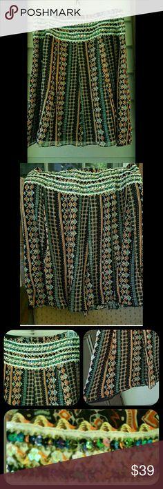 Selling this Free People Embellished Drapey Silk Boho Skirt on Poshmark! My username is: fashionfauxpas. #shopmycloset #poshmark #fashion #shopping #style #forsale #Free People #Dresses & Skirts
