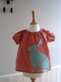 peasant top with animal applique