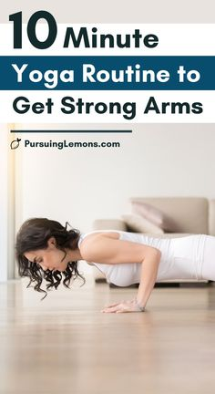 10 Minute Yoga Routine to Get Strong and Toned Arms | Want to get rid of your flabby arms and get strong toned arms? Do this simple yoga routine for toned arms every day. #armyoga #yogaforarms #armworkout Yoga Flow Sequence, Yoga Sequences, Yoga Routine, Workout Routines, Workouts, Bras Forts, Arm Yoga, Flabby Arms, Strong Arms