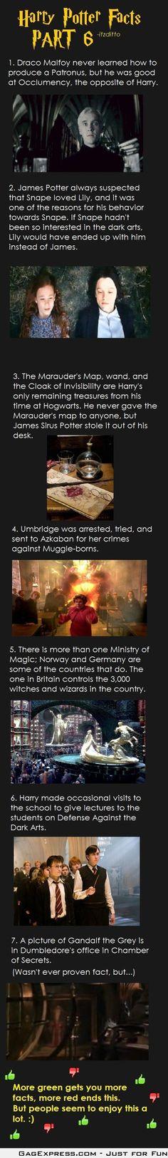 Harry Potter Facts Part 6