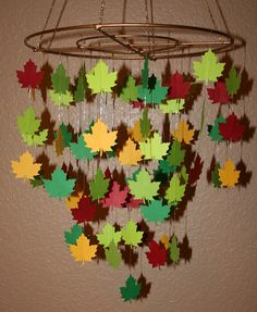 Autumn bucket list: make a leaf mobile (okay, it doesn't have to be this elaborate!)