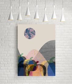 Geometric art print geometric poster modern wall art