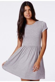 2dc298e7c2 Missguided - Gray Aliveta T-Shirt Skater Dress - Lyst
