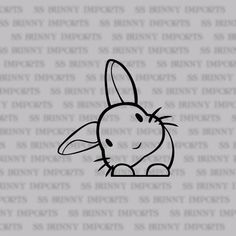 rabbit car sticker/ laptop decal / phone vinyl sticker, glossy black blue color for cars - Blue Things Peeking Head Tilt Bunny Decal Sticker; Car Stickers, Laptop Stickers, Love Wallpaper, Lettering, Laptop Decal, Car Decal, Sticker Vinyl, Logo Sticker, Easy Drawings