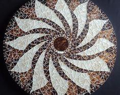 Centro de Mesa Giratório. Mosaic mandala