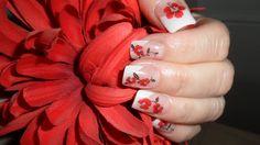 flower gel nails by mel62 - Nail Art Gallery nailartgallery.nailsmag.com by Nails Magazine www.nailsmag.com #nailart