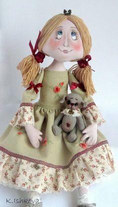 "Collectible dolls handmade. Fair Masters - handmade textile doll ""I crown fell?)"". Handmade."