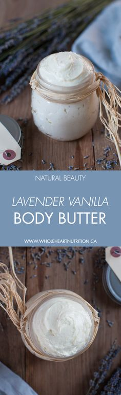 100% all natural body butter made with shea butter, plant oils and essential oils to nourish and hydrate dry skin. #naturalbeauty #bodybutter #skincare #diy #homemade