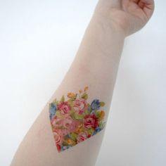 vintage flower tattoos cool