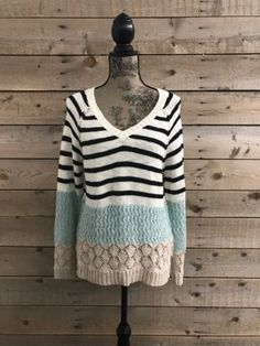 Only $20.99 + SHIPS FREE!  Sanctuary V Neck Sweater in S, M, or XL (Large $27.99)  Only a Few Left!  Cozy Up: http://ebay.to/2AztICO  #ad