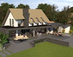 """[vrview img=""""URL for photosphere image""""] Villa P Weekend House, Thatched Roof, Architect House, Home Design Plans, Exterior Design, Future House, Modern Architecture, Luxury Homes, New Homes"""