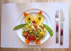 Happy Owl salad Recipe - Food that your kids will love and eat