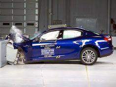 2014 Maserati Ghibli moderate overlap IIHS crash test - YouTube #maserati #ghibli #safetyghibli