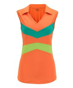 0b7f16e25312b3 Clementine V-Neck Sleeveless Athletic Polo by Bette  amp  Court  zulily   zulilyfinds