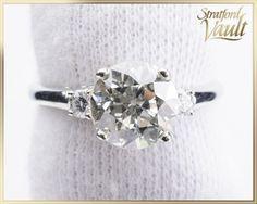 GIA ~ 28000.00 ~ 1910's ~ Diamond Engagement Ring ~ 18K White Gold ~ 1.72ct… Diamond Engagement Rings, White Gold, Antiques, Unique Jewelry, Handmade Gifts, Diamonds, Etsy, Vintage, Antiquities