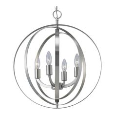 Meridian 4 Light Chandelier in Nickel and I got it on sale!!