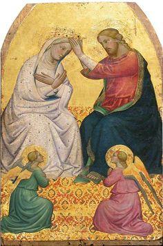 Le couronnement de la Vierge ~ Maître de santa verdiana