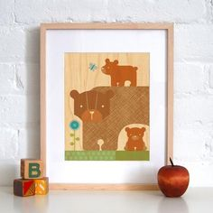 Bear with babies print by petitcollage