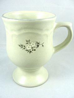 "Pfaltzgraff HEIRLOOM Pedestal Footed Mug 4.75""  USA (Set of 3) #Pfaltzgraff"