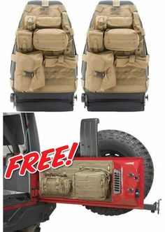Smittybilt Front G.E.A.R. Seat Covers with FREE! Tailgate Cover | Jeep Parts and Accessories | Quadratec