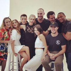 Arrow cast _ Colton Haynes, David Ramsey, Emily Bett Rickards, Willa Holland…