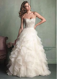 Buy discount Amazing Satin & Organza Satin Ball Gown Sweetheart Neckline Natural Waistline Wedding Dress at Dressilyme.com