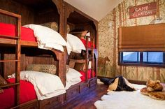 Reclaimed Timber Home - Timber Home Living  (THIS WOULD BE PERFECT FOR THE GRANDKIDS!!!... NEED ONE MORE BED!)