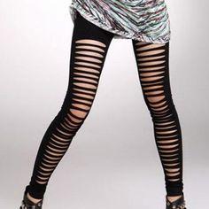 Black Cut Out Leggings
