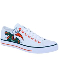 Product: University of Miami Hurricanes Low Top Canvas Shoe