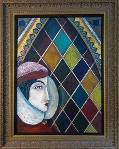 "For Sale: Secret Confessions by Elizabeth Chaney | $2,610 | 23""w 29""h | Original Art | https://www.vangoart.co/elizabeth-chaney/secret-confessions @VangoArt"