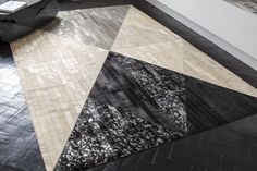 Discover Marshall Rug and all Serge LESAGE collection on Mohd. Lesage, Geometric Rug, Home Rugs, Grey Rugs, Natural Leather, Hand Sewing, Modern Design, House Design, Flooring