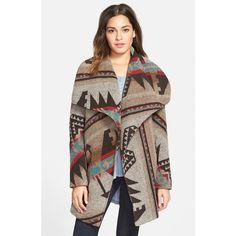 Junior Thread & Supply Blanket Coat ($48) ❤ liked on Polyvore