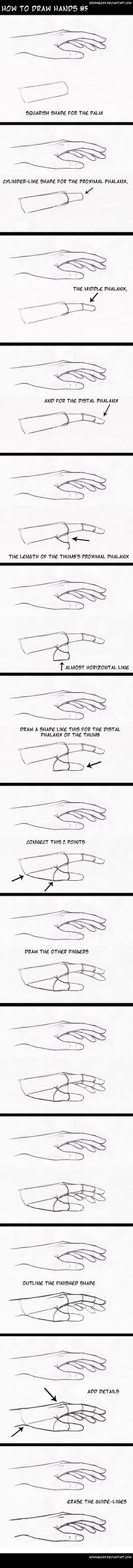 how to draw hands5 by nominee84.deviantart.com on @DeviantArt