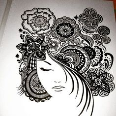 Pin by chandrima on being artsy in 2019 doodle art, art sketches, pen art. Doodle Art Drawing, Zentangle Drawings, Mandala Drawing, Zentangle Patterns, Zentangles, Art Drawings Sketches Simple, Pencil Art Drawings, Mandala Art Lesson, Doodle Art Designs