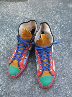 60's/70's Vintage Peter Max Sneakers Shoes Psychedelic Hippie 7/9
