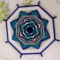 From DanilovMandala on Etsy: Woven Mandalas helper devices Ojo-de-Dios Star Magic, Magic Circle, Mandala Art, Loom Weaving, Hand Weaving, Huichol Art, Tibetan Mandala, Lilac Blossom, String Art