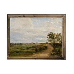 Farmhouse Paintings, Farm Paintings, Vintage Paintings, Landscape Prints, Landscape Art, Landscape Paintings, Landscapes, River Painting, Cow Painting