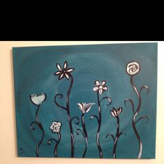My friend painted this at a paint your own place.  Like the pottery places but you paint on canvas and they help you a little with ideas.  It's sounds fun.