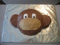 DIY Monkey Cake - going to try and make this for my nephews birthday! Wish me luck!!