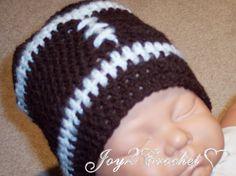 Joy 2 Crochet: Free pattern Baby Football Hat