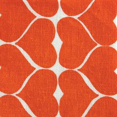 Hearts in Persimmon organic printed fabric by Umbrella Prints