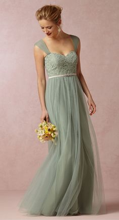 Juliette Dress in Sea Glass|BHLDN
