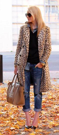 boyfriend jean, coat and heels.
