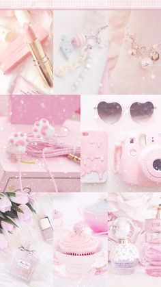 The ideal girly girl starter kit Iphone Wallpaper Tumblr Aesthetic, Pink Wallpaper Iphone, Aesthetic Pastel Wallpaper, Galaxy Wallpaper, Aesthetic Collage, Pink Aesthetic, Pretty Pastel, Pastel Pink, Lorie