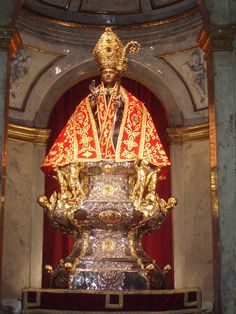 Busto de San Fermín. Iglesia de San Lorenzo de Pamplona -