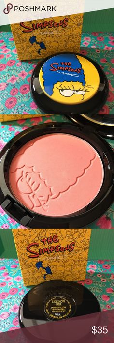 Mac Cosmetics BNIB Sideshow You Simpsons B54 Mac Cosmetics BNIB Sideshow You - Simpsons Collection - Brand new, never used or tested.  100% Authentic Batch Code: B54 - Please feel free to ask any questions and I will get back to you as soon as possible. Thank you! MAC Cosmetics Makeup Blush