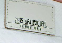 etiquetas de cintura zara basic dept.