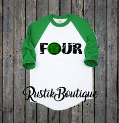 The Incredible Hulk Fourth Birthday Raglan Shirt