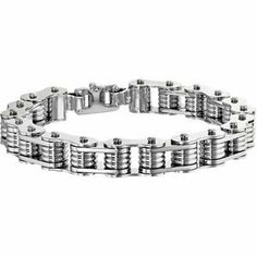 10Mm Bike Link Bracelet Reeve and Knight. $101.00. This item features a high polish finish for Excellent sparkle and pop. This jewelry is symbolic in nature and can be the perfect gift for any and all occasions. Promptly Packaged with Free Shipping and Free Gift Box... Perfect for Gift Giving. Manufactured using up-to-date manufacturing techniques ensuring the highest quality and value. Completely redesigned and revamped for the year 2012