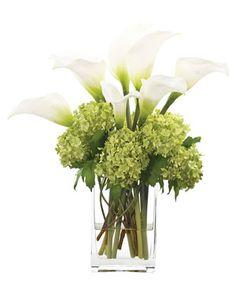 """The Urban Gardner Talks Indoor Floral Arrangements"" Hydrangea and Calla Lilly arrangement"